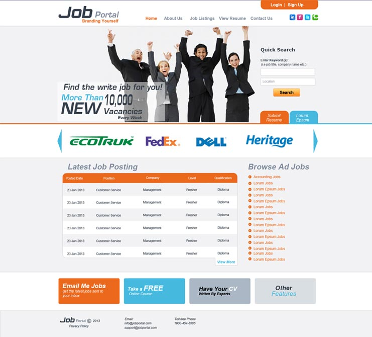 Job service website